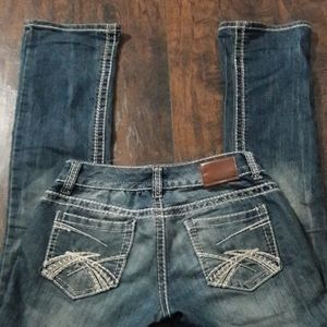 Womens sz 3/4 Maurices boot cut jeans